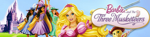 Barbie three musketeers banner