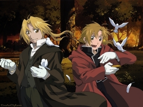 Full Metal Alchemist achtergrond called edward and alphonse