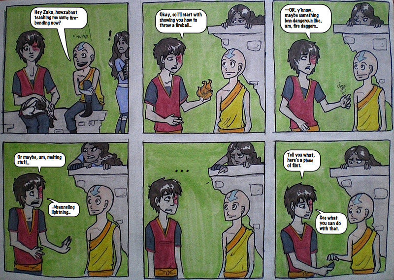 Avatar the last airbender funny comic