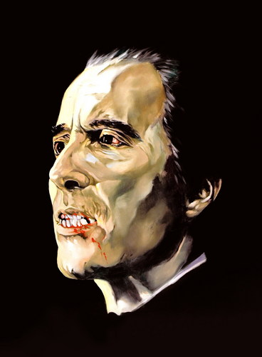 hammer horror chrisopher lee ltd print