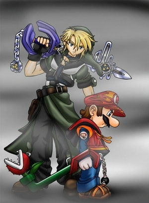 mario and link