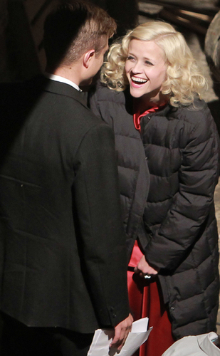 on the set of his new film Water For Elephants