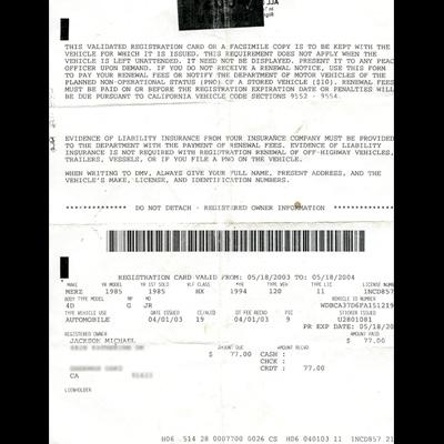 registration card..