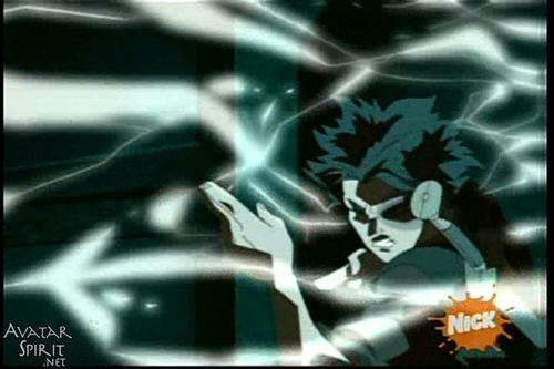 zuko shooting lightning!