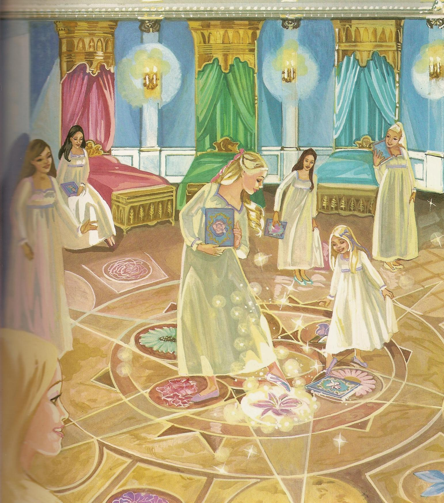 búp bê barbie 12 nàng công chúa hình n�n titled 12 Dancing Princesses