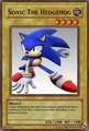 A Sonic Yugioh card