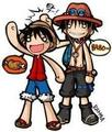 Ace and Luffy - anime fan art