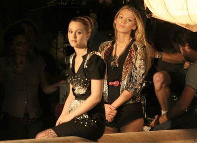 """Blake & Leighton on set of """"Gossip Girl"""" (July 8th)"""