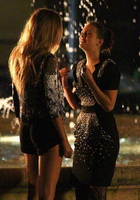 "Blake & Leighton on set of ""Gossip Girl"""