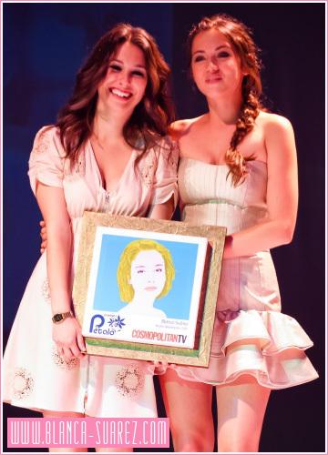 Blanca en los premios petalo