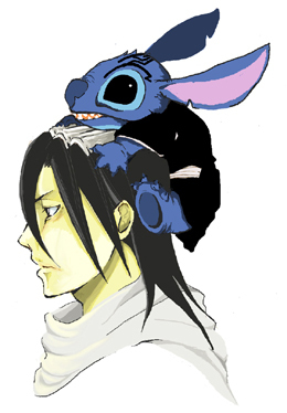 Byakuya and... Stitch