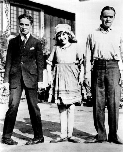 Charlie Chaplin, Douglas Fairbanks and Mary Pickford