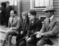Charlie Chaplin, Douglas Fairbanks and Mary Pickford - silent-movies photo