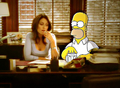 Cuddy & Homer - dr-lisa-cuddy fan art