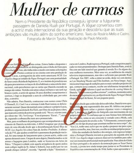 Daniela @ Vogue Portugal [August 2010]