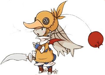 アヒル, 鴨 Moogle