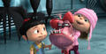 Edith & Agnes playing with the puppy - despicable-me screencap