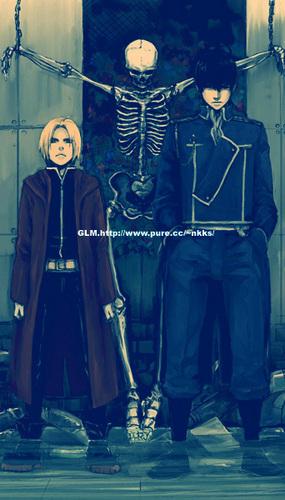 Edward Elric and Roy mabangis na kabayo