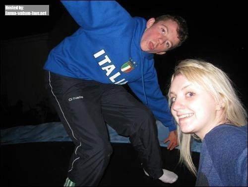 Evanna with brother