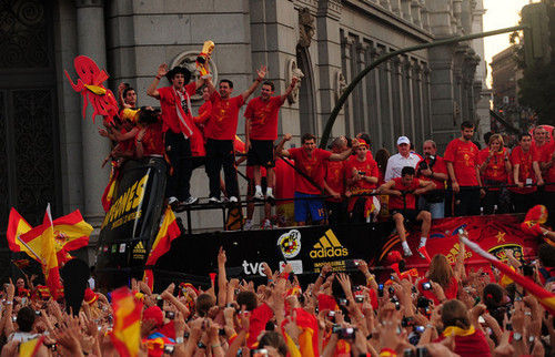 FIFA World Cup South Africa 2010 वॉलपेपर entitled FIFA 2010 World Cup Champions Spain Victory Parade And Celebrations