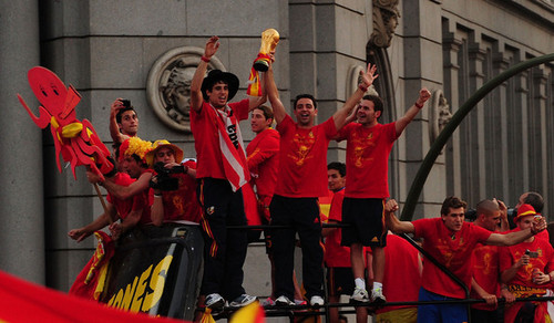 FIFA 2010 World Cup Champions Spain Victory Parade And Celebrations
