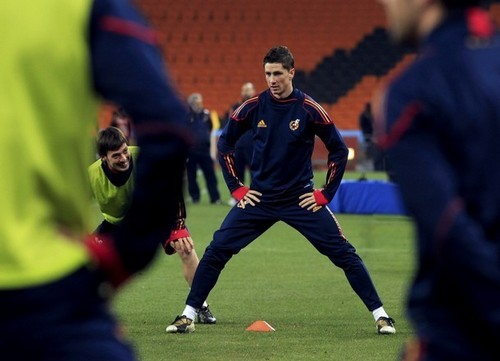 Fernando Torres वॉलपेपर titled Fernando Torres - Spain Training