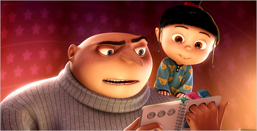 Gru and Agnes - despicable-me Screencap