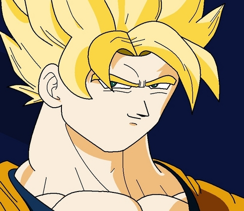 Dragon Ball Z fond d'écran called How to draw Goku SSJ in MS Paint Step 5
