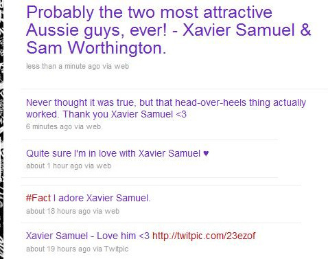 I love tweeting about Xavier <3 - xavier-samuel Fan Art