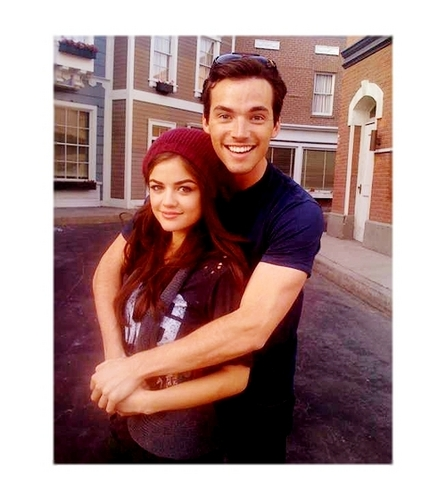 Ian Harding Lucy Hale - pretty-little-liars-tv-show Photo