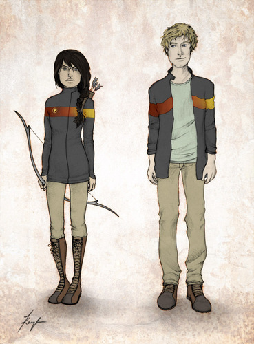The Hunger Games wallpaper titled Katniss and Peeta