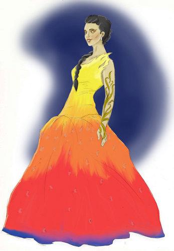 Die Tribute von Panem Hintergrund called Katniss