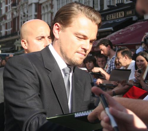 Leo at Luân Đôn Premiere Inception