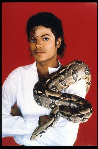 Michael Jackson with snake