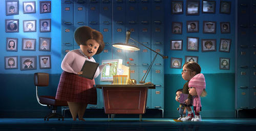 Miss Hattie and the girls - despicable-me Screencap