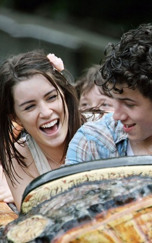 Nick Jonas and Lucie Jones at Thorpe Park (July 8)
