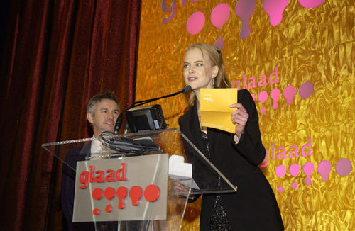 Nicole and Baz at GLAAD Media Awards New York