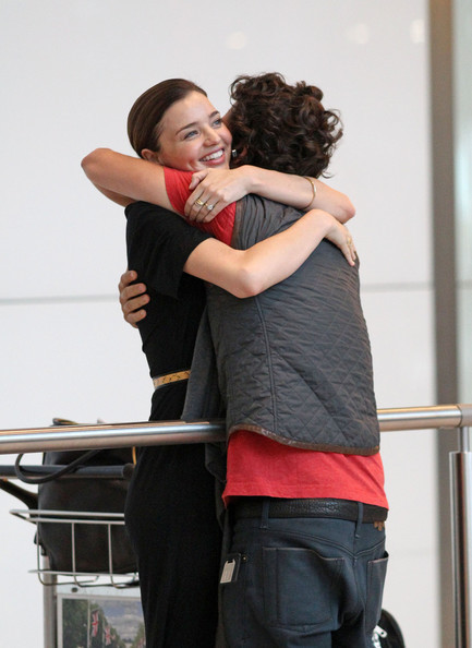 Orlando Bloom and Miranda Kerr at Heathrow Airport (July 9)