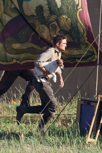"Rob on ""Water For Elephants"" Set"
