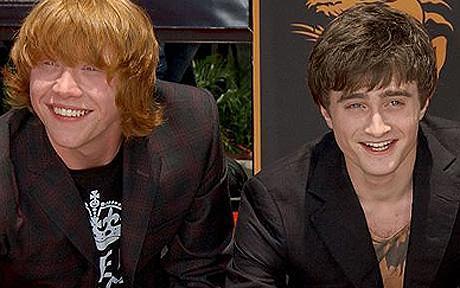 Rupert Grint and Daniel Radcliffe