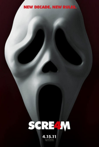 Horror films achtergrond called Scream 4 Teaser Poster