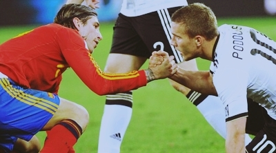 FIFA World Cup South Africa 2010 wallpaper entitled Sergio Ramos & Lukas Podolski