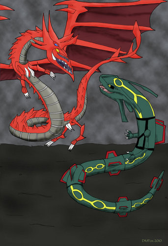 Slifer The Sky Dragon Vs Rayquaza