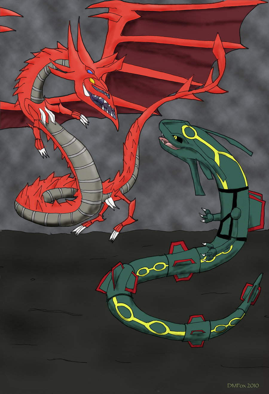anime vs anime images slifer the sky dragon vs rayquaza hd wallpaper