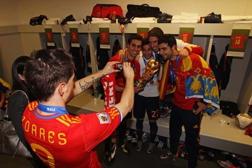 Spain World Cup winners 2010 [Reina and Torres]