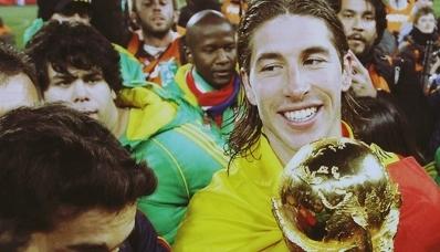 Spaniards celebrating