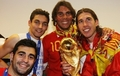 Spanish team with Rafa Nadal