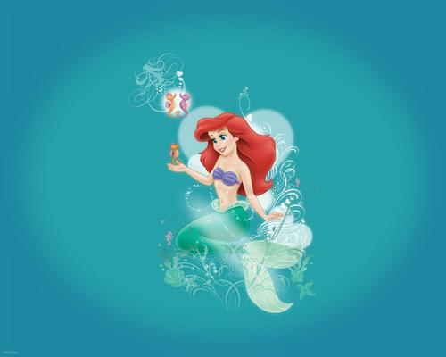 The Little Mermaid kertas dinding titled The Little Mermaid