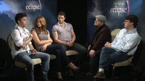 Jackson Rathbone & Ashley Greene wallpaper entitled The Twilight Saga: Eclipse (2010) > Podcast: Cast & Filmmaker Chat - Part #2