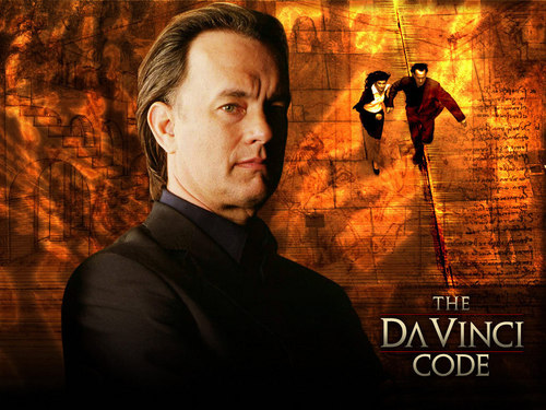 Tom Hanks achtergrond titled Tom Hanks in The Da Vinci Code